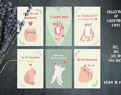 Collection of Valentines cards