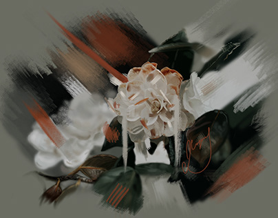 WHITE FLOWERS - DIGITAL ART