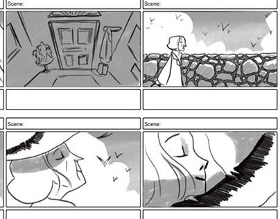 "Storyboards for ""Selkie"" Short film"