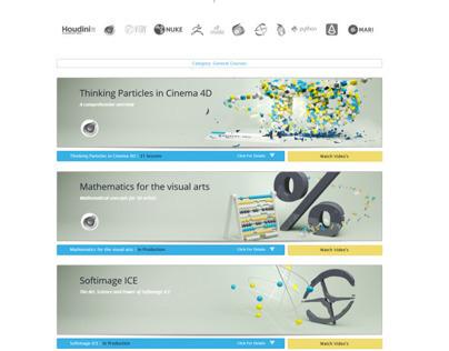 VFXlessons (free) tutorial site  - Version 1