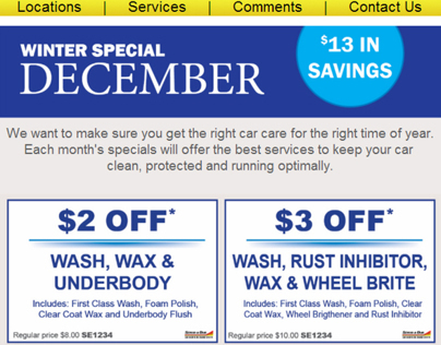 Monthly Email specials
