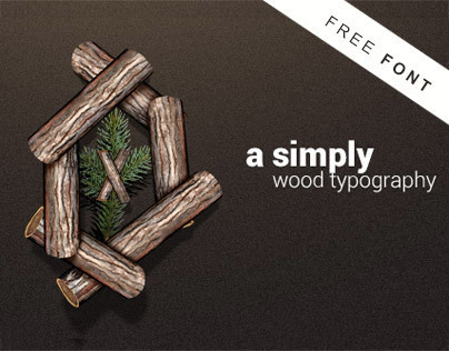 Woody Type - Simply wood Typography - Free Font