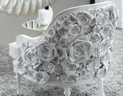 Fleur du Pearl chair by Jimmy Lousich