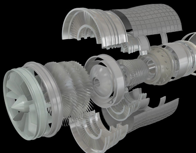 Ge Gas Turbine >> 3D Animation/Modeling - F15 Jet Engine on Behance