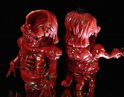【圣玛利亚菩萨——猩红新娘】Customed sofubi toy