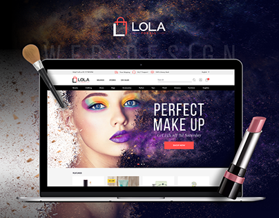 LOLA e-commerce, Web design & Responsive