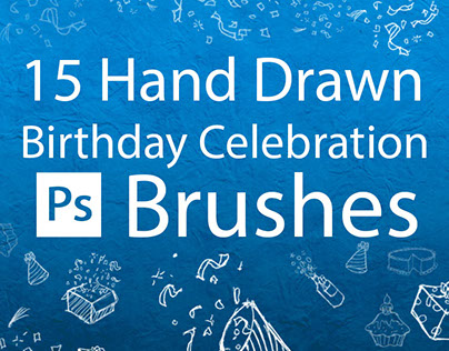 15 Hand Drawn Birthday Celebration Brushes