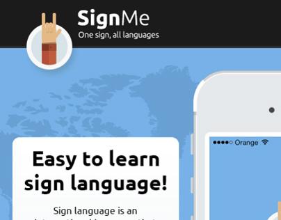 SignMe iOS app - microsite draft