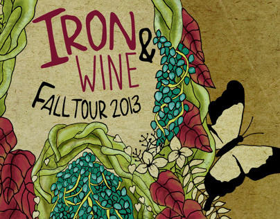 Iron and Wine Fall Tour Poster