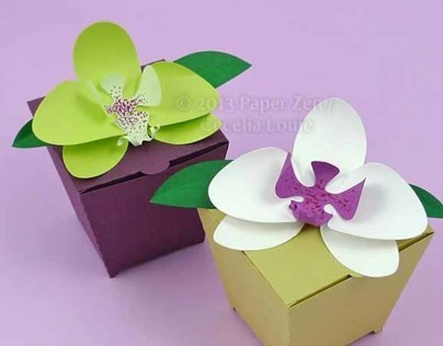3D Paper Orchid Cards and Gift Box