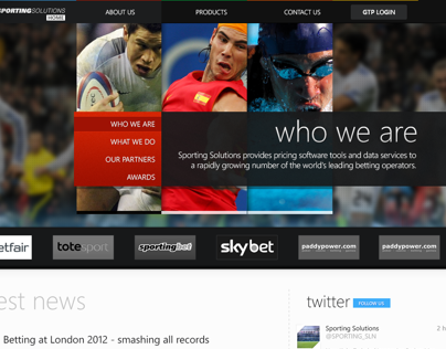 Sporting Index Web Concept
