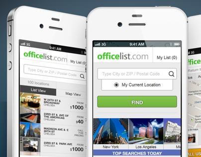 OfficeList Mobile Site