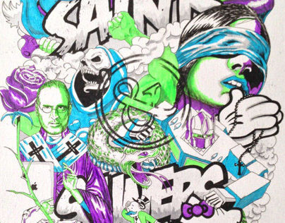 Saints & Sinners Illustration