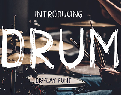 Drum. Handmade brush font Free For personal use
