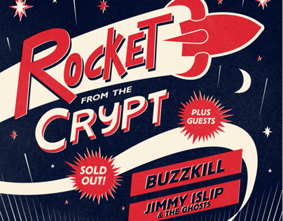 Rocket From The Crypt Silkscreen Poster