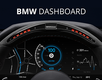 BMW Car Dashboard Design