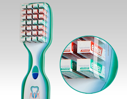 Elmex stand for toothpaste