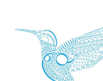 Hummingbird in Type