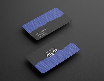 Business Card Mockup 3D Realistic
