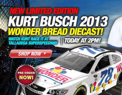 NASCAR Email Design - Kurt Busch Diecast
