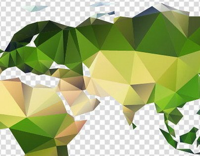 Vector polygon world map on behance gumiabroncs Gallery