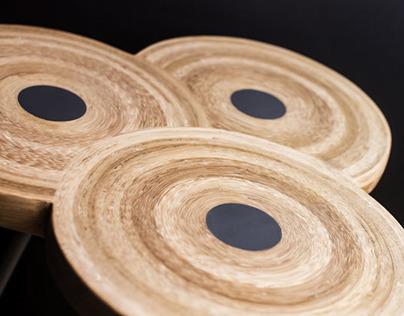 同心竹凳 Concentric bamboo stool