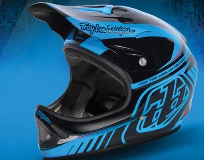 Troy Lee Designs Helmet Advertising