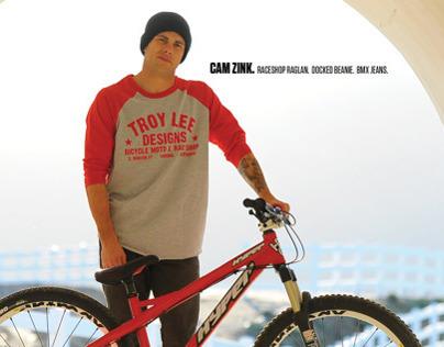 Troy Lee Designs Sportswear Ad- Blisss Magazine - Zink