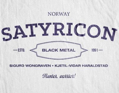 Black Metal logos gone vintage