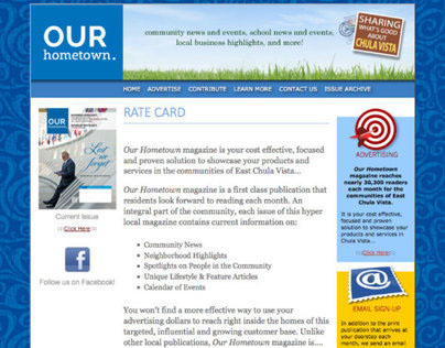 Our Hometown Magazine (Website) [Functionality]