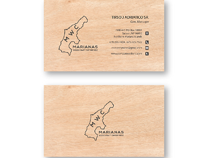 MARIANAS WOODCRAFT ENTERPRISE | BUSINESS CARD DESIGN