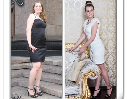 My client Ekaterina: before & after.