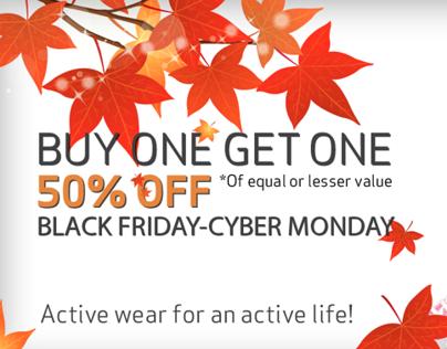 Black Friday-Cyber Monday Promotion