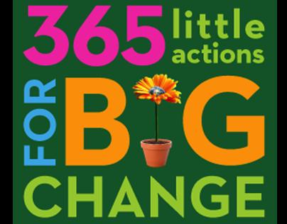 365 Little Actions for Big Change, Book Jacket