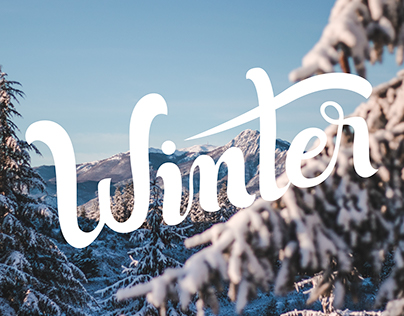Winter typo and photography
