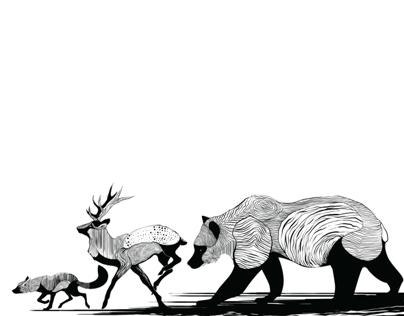 Fox Stag Bear