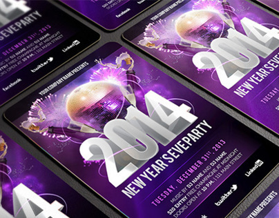 Free New Year's Eve PSD Party Flyer Template Download