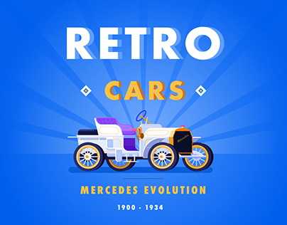 Retro Cars Illustrations
