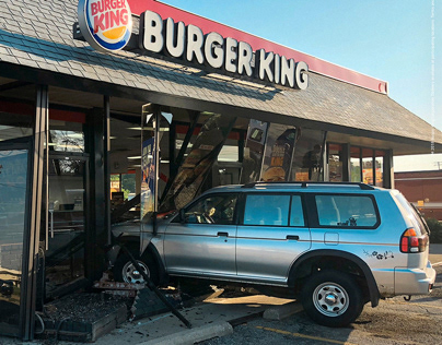 Burger King / Car Crashes / Print & Outdoor