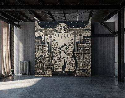 """""""The Birth of Venus"""" ceramic mosaic"""