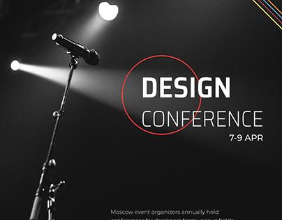 Design conference landing page