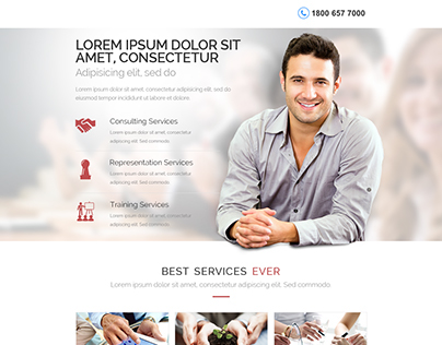 Web home page design for a consulting agency
