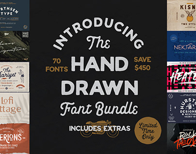 THE HAND DRAWN FONT BUNDLE - SAVE $450!