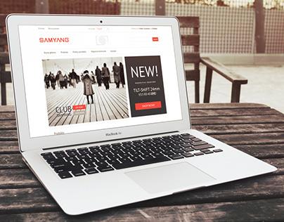 Projekt strony internetowej Samyang