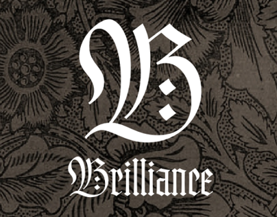 Brilliance — a glamorous blackletter with smallcaps