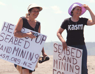 Raglan Seabed Mining Protest