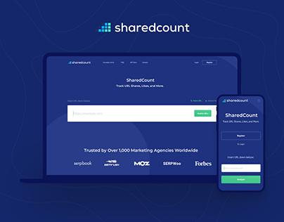 SHAREDCOUNT • SMM • WEB • IDENTITY • APP