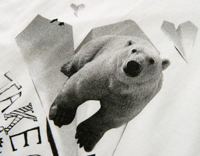 Animal B/W T-shirt design