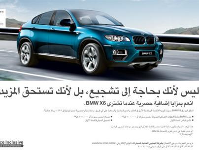 BMW X6 (Arabic copywriting)