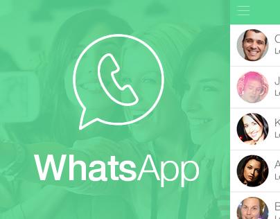 WhatsApp iOS 7 Style Design